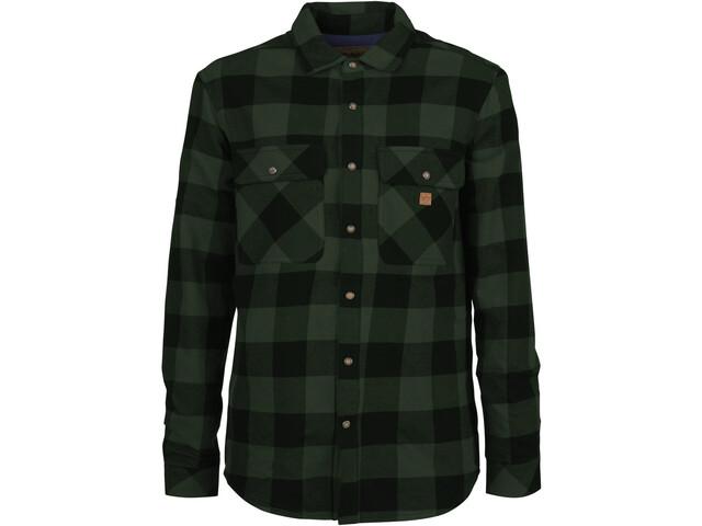 E9 Ciro Shirt Men, green-check